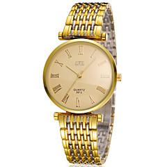 bosck שעון השרשרת של גברים זהב הדק במיוחד סגסוגת שעון עמיד למים