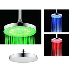 8 인치 크롬 다채로운 LED 샤워 헤드 레인 샤워