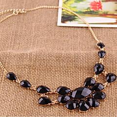 Fashion Flower Pendant Short Necklace Golden Chain Jewelry