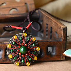 Retro Women Alloy / Agate / Stone Necklace Pendant Necklaces 1pc