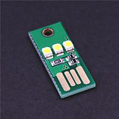 Lampada di campeggio luce bianca 0.2W 20lm mini wy003 USB 3-led