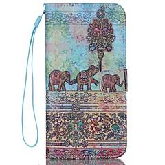 iPhone 7 plus elefant model de caz de înaltă calitate portofel mână secțiune frânghie de telefon pentru iPhone 6 / 6S