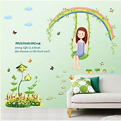 Botânico / Desenho Animado / Vida Imóvel / Pessoas Wall Stickers Autocolantes de Aviões para Parede , PVC 50cm*70cm
