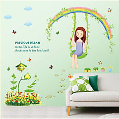 Botanical / Cartoni animati / Natura morta / Persone Adesivi murali Adesivi aereo da parete , PVC 50cm*70cm