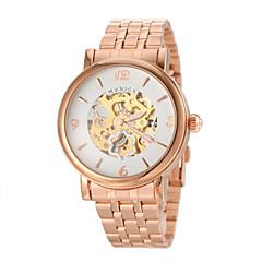 Men's Fashion Gold Auto Mechanical Steel Wrist Watch