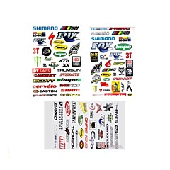 3Pcs Bicycle Ornament Mark Helloday Stiker