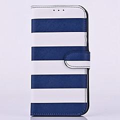 For Samsung Galaxy Note Kortholder / Med stativ / Flip Etui Heldækkende Etui Linjeret / bølget Kunstlæder Samsung Note 5 / Note 4 / Note 3