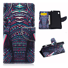 Na Etui Sony Portfel / Etui na karty / Z podpórką / Flip Kılıf Futerał Kılıf Słoń Twarde Skóra PU na Sony Sony Xperia M4 Aqua