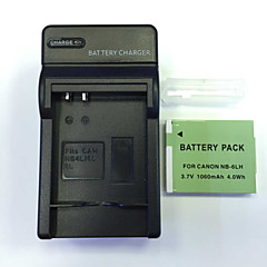 US  4.2V NB-6LH Home Charger+(1)Battery  for   Canon SX600 S120 SX700 SX520 510