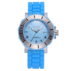 Weiqin® Men's Luminous Hands Auto Date Display Silicone Strap Quartz Sports Watches