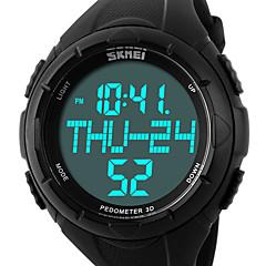 SKMEI Herr Sportsklocka Armbandsur Digital LCD Kalender Kronograf Vattenavvisande alarm Sportsklocka PU Band Lyxig Svart Grön Svart Grön