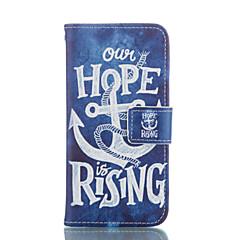 Mert iPhone 6 tok / iPhone 6 Plus tok Pénztárca / Kártyatartó / Állvánnyal Case Teljes védelem Case Horgony Kemény Műbőr AppleiPhone 6s