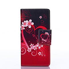 Varten Samsung Galaxy kotelo Korttikotelo / Lomapkko / Tuella / Flip / Kuvio Etui Kokonaan peittävä Etui Sydän Tekonahka SamsungOn 5 / J5