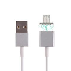 USB 2.0 Mikro USB 2.0 Magnetlås Kabel Til Samsung Huawei Sony Nokia HTC Motorola LG Lenovo Xiaomi 120 cm Metal PVC