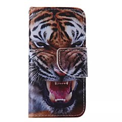 iPhone 7 Plus Tiger Painted PU Phone Case for iPhone 6s 6 Plus SE 5s 5c 5 4s 4