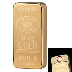 1926 personalidad originalidad de carga más ligera ultra delgado cigarrillo electrónico a prueba de viento de metal ligero de oro en