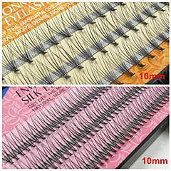 10mm False Eyelashes Extensions Natural Individual Fake Lash EyeLash Planting Grafting Eyelashes(Assorted Color)