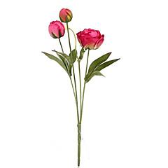 Seda Peonías Flores Artificiales