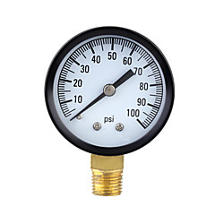 0-100psi Mini Dial Air Pressure Gauge Meter Piezometer Single Scale
