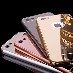 For iPhone 6 etui iPhone 6 Plus etui Belægning Spejl Etui Bagcover Etui Helfarve Hårdt Metal for iPhone 6s Plus/6 Plus iPhone 6s/6