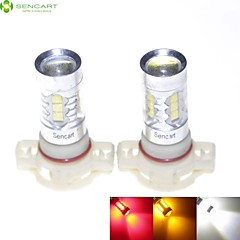 2 x H16 5202 80W 6xCREE White/Red/Yellow/Cold White 4500LM 6500K for Car Fog Light / daytime running lights AC DC 12-24V