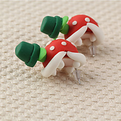 HUALUO®New Fashion Handmade Clay Mario Piranha Earrings
