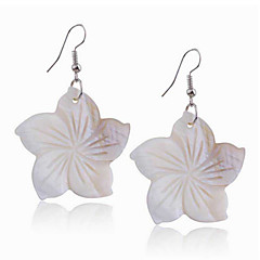 Earring Flower Drop Earrings Jewelry Women Party / Daily / Casual / Sports Cowry 1pc White