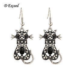 Earring Animal Shape Drop Earrings Jewelry Women Wedding / Daily / Casual Alloy / Acrylic / Resin / Silver Plated 2pcs
