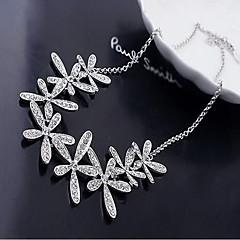 Dames Verklaring Kettingen Sneeuwvlok Strass Legering Birthstones Geboortestenen Kostuum juwelen Sieraden Voor Bruiloft Feest Dagelijks