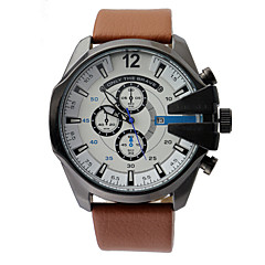 Masculino Relógio de Pulso Quartz Couro Banda Marrom marca-