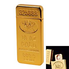 1928 personlighet originalitet laddning lättare ultratunn vindtät elektronisk cigarettändare metall tyst guld