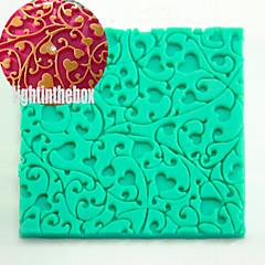 Heart Rattan Texture Grain Printing Baking DIY Silicone Chocolate Sugar Cake Mold