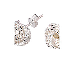 Earring Stud Earrings Jewelry Women Party / Daily Alloy / Silver Plated