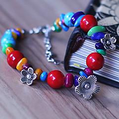 Ethnic Tibet Multicolor Alloy / Resin / Cowry Bracelet Strand Bracelets 1pc