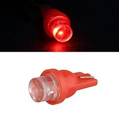 10 x t10 llevó coche 0.35W 12v dc lámpara de la bombilla lateral (blanco / rojo)