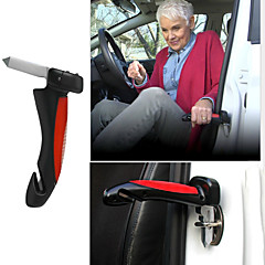 Deluxe Auto Car Mobility Standing Aid Cane Grip Handle - Super Bright Led Flashlight