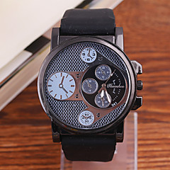 Men's Watch Selling Korean High-Grade Metal Large Dial Silicone Quartz Watch Cool Watch Unique Watch