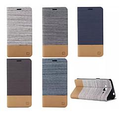 Mert Samsung Galaxy tok Kártyatartó / Állvánnyal / Flip Case Teljes védelem Case Egyszínű Műbőr Samsung Grand Prime / E7 / E5 / Core Prime