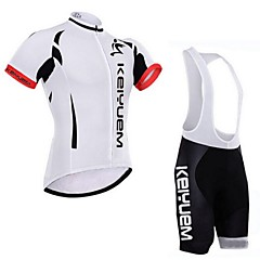 KEIYUEM Bike/Cycling Padded Shorts / Jersey + Bib Shorts / Clothing Sets/Suits Unisex Short SleeveWaterproof / Breathable / Insulated /