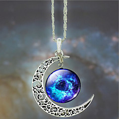 Women's Galaxy Star Moon Time Gem Necklace(Random Color)