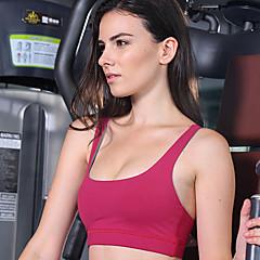 Queen Yoga Mulheres Sem Manga Respirável Compressão Sutiã Esportivo para Ioga Elastano Tactel XS S M L