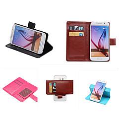 Mert Samsung Galaxy tok Kártyatartó / Állvánnyal / Flip Case Teljes védelem Case Egyszínű Műbőr SamsungS7 edge plus / S7 edge / S7 / S6