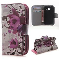 Varten Samsung Galaxy kotelo Lomapkko / Korttikotelo / Tuella / Flip / Kuvio Etui Kokonaan peittävä Etui Kukka Tekonahka SamsungTrend