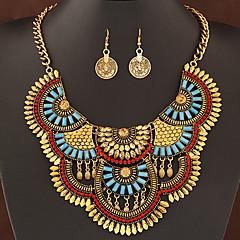 Σετ Κοσμημάτων Δήλωση Κοσμήματα Μοντέρνα κοσμήματα πολυτελείας Ευρωπαϊκό Πετράδι Ρητίνη Κράμα Ασημί Χρυσαφί Κολιέ Cercei ΓιαΠάρτι