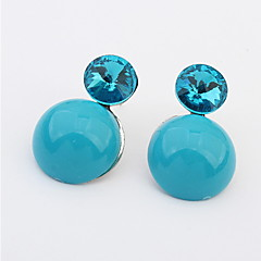 European And American Minimalist Round Pure Color Stud Earrings