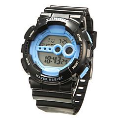 Men's Classic Digital LCD Rubber Sports Wristwatch