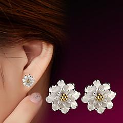Dames Oorknopjes Birthstones Geboortestenen Kostuum juwelen Sterling zilver Bloemvorm Sieraden Voor Bruiloft Feest Dagelijks Causaal Sport