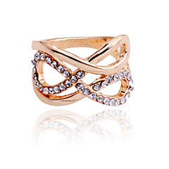 Korean Crystals Connected 8 Shape Ring