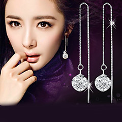 Lureme®  Korean Fashion 925  Sterling Silver Studded With Drill Shambhala Hypoallergenic Earrings