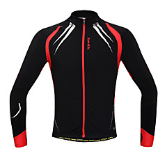 SANTIC® Cycling Jacket Men's Long Sleeve BikeThermal / Warm / Windproof / Anatomic Design / Fleece Lining / Front Zipper / Reduces